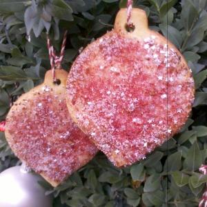 Strawberry and vanilla (silver) sugar cookie