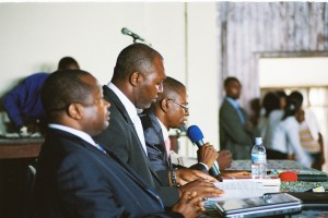 Law Professors speaking at the University of Kinshasa conference on Peace and Security in DRC