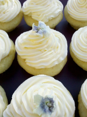 Vanilla and orange blossom cupcakes