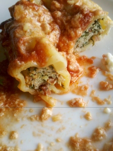 Chicken and herb cannelloni