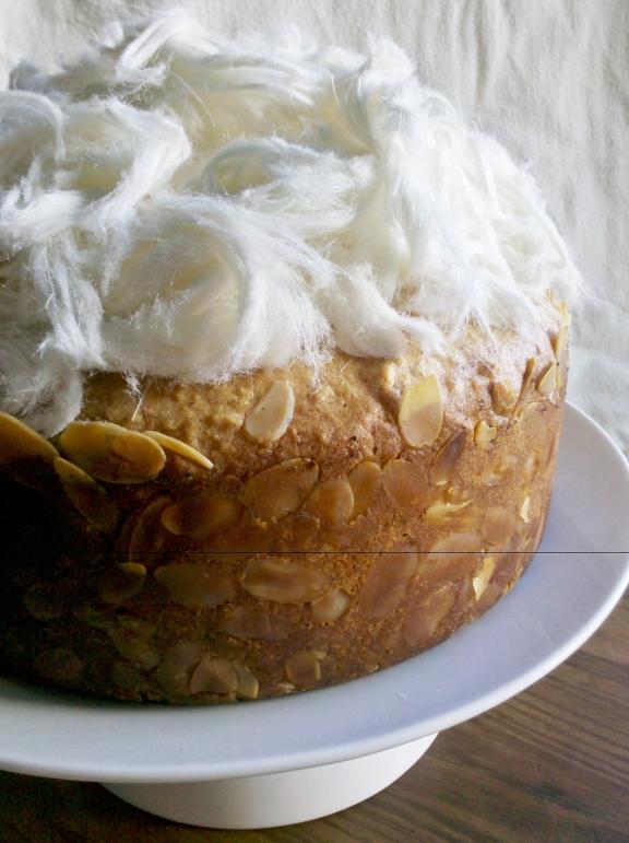 Heavenly almond and honey vanilla syrup cake
