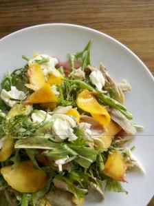 Savoury Peach Melba salad