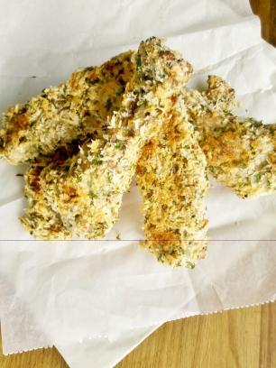 Parmesan crusted duck wings