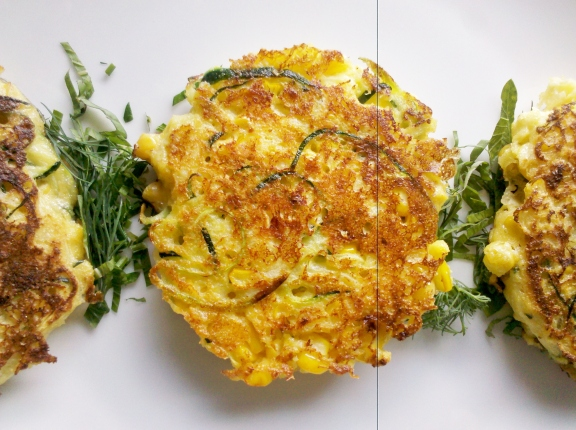 Zucchini and sweet corn fritters