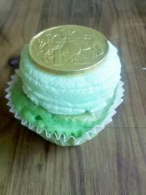 Royal Australian Mint Choc Chip cupcake by Mamasaurus Makes
