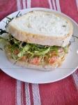 Yabby tail sandwich