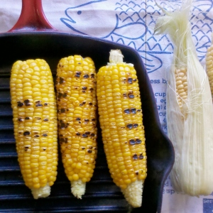 Chargrilled corn on the cob