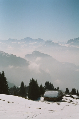 A view from the top of Mt Rigi, Switzerland