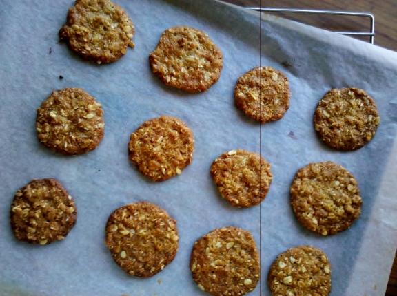 Crisp ANZAC biscuits