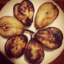 Pan fried Corella pears