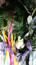 Herb and vegetable bouquet