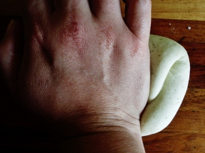Knead the dough until it is smooth and silky