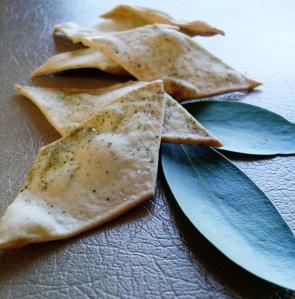 Pepperberry leaf crackers