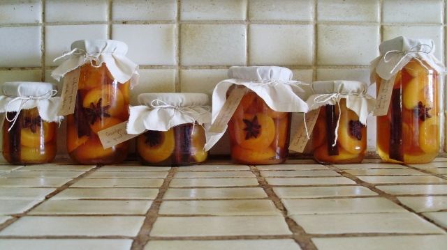 Grandpa's apricots in spiced honey syrup