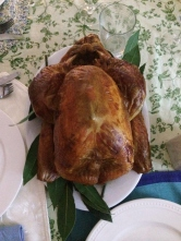 Whole turkey roasted with orange, cinnamon and bay (photo courtesy of Little Train Marketing Solutions)