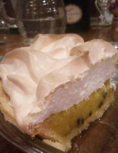 Lime and passionfruit meringue pie