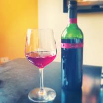 A glass of blackberry wine (photo courtesy of Rutti)