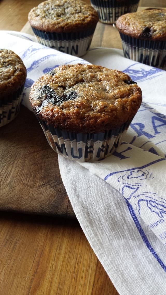 Blue blueberry muffins