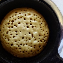 Cooking a crumpet
